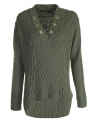 Guess sweter zielony L