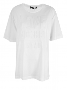 T- shirt damski ecru LOVE MOSCHINO 44